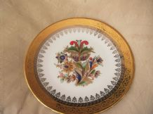"ELEGANT HIGHLY GILDED PLATE HAND APPLIED 24KT GOLD LAURENT'S SPAIN 10"" EX COND"